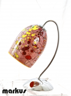 Table lamp with Murano glass lamp shade