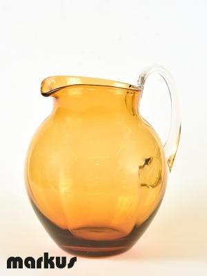 Murano glass Jug Amber color.