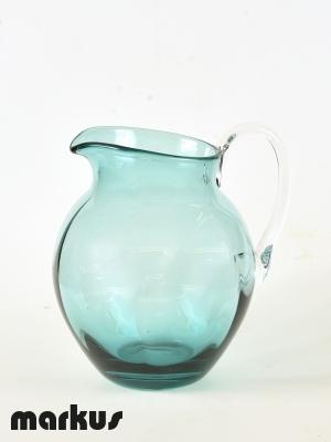 Murano glass Jug light green