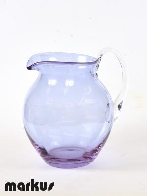 Murano glass Jug light blue color