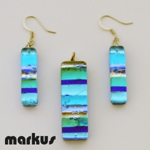 Parure light blue stripes