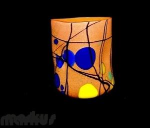 Orange kandindky Glass ''Goto''