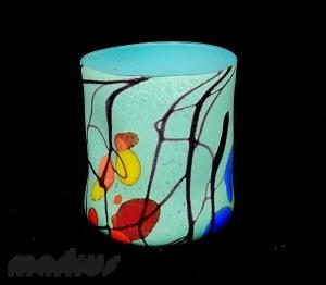 Light Blue kandinsky Glass ''Goto''