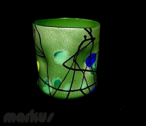 Green Kandinsky Glass ''Goto''