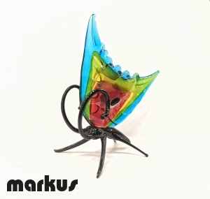 Glass Butterfly multicolor