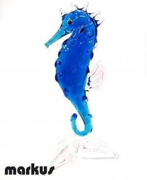 Glass Sea Horse Blue Color