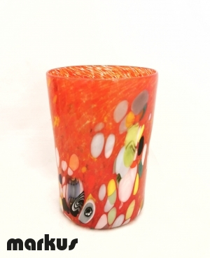 Traditional Glass By Diego Vio - Red