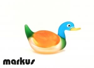 Glass Duck Orange-Red-Light Blue