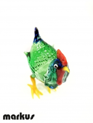Glass Hen green color