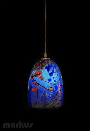 PEACOCK BLUE - KANDINSKY GLASS SHADE BIG SIZE