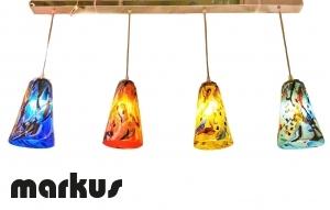 Metal bar chandelier with 4 lights