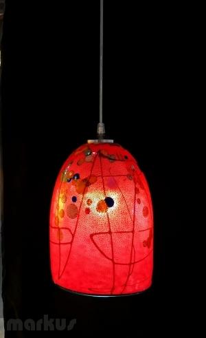 RED - KANDINSKY GLASS SHADE BIG SIZE