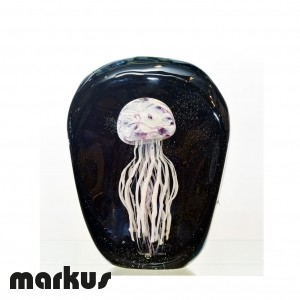 Glass jelly fish amethyst color
