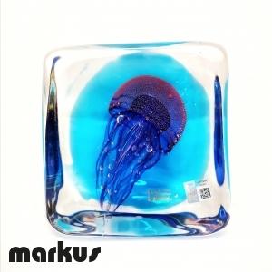 Glass submerged jelly fish small size