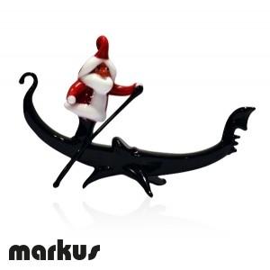 Santa Claus in a gondola