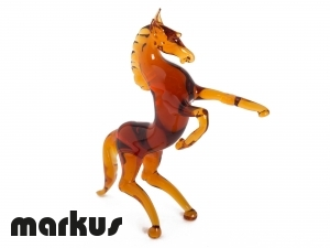 GLASS HORSE AMBER COLOR