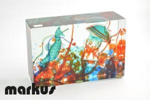 Aquarium with jellyfish and seahorse